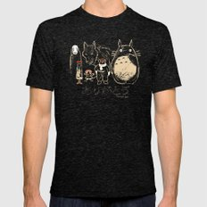 Tribute For Miyazaki Mens Fitted Tee Tri-Black SMALL
