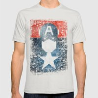 Yankee Captain Grunge Su… Mens Fitted Tee Silver SMALL