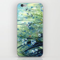Forget me not flowers iPhone & iPod Skin