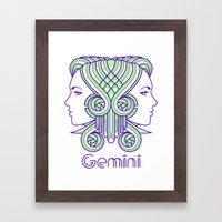 Deco Gemini Framed Art Print