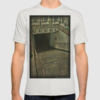 Down Into Darkness Mens Fitted Tee Silver SMALL