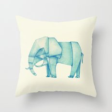 Paper Elephant Throw Pillow