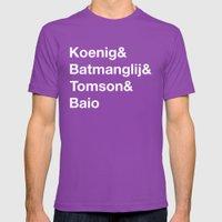 Helvetica Weekend  Mens Fitted Tee Ultraviolet SMALL