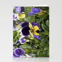 Violets on a rainy morning Stationery Cards