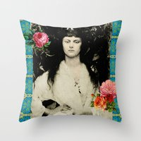 Alice Collage Throw Pillow