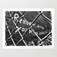 Remember, whatever you believe imprisons you Art Print