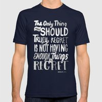 TRULY REGRET Mens Fitted Tee Navy SMALL