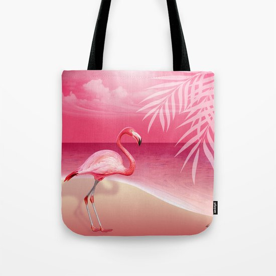 FLAMINGO BEACH | pink Tote Bag