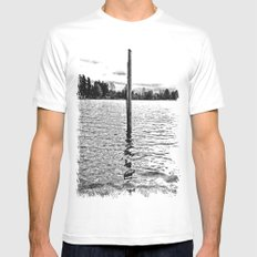 Scenic solitude SMALL White Mens Fitted Tee