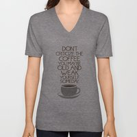 Coffee Warning Unisex V-Neck