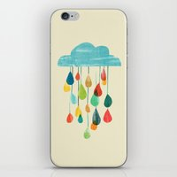cloudy with a chance of rainbow iPhone & iPod Skin