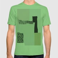 On the wall Mens Fitted Tee Grass SMALL