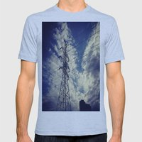 Heavenly spring sky in an industrial world Mens Fitted Tee Athletic Blue SMALL