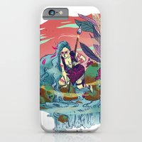 iPhone Cases featuring The Furious River Goddess by Judith Chamizo