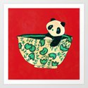 Dinnerware sets - panda in a bowl Art Print