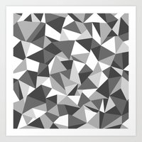 Abstraction Black And Wh… Art Print