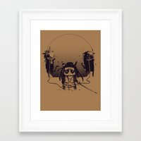 Walking Grump Framed Art Print