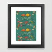 Fishy Kisses Framed Art Print