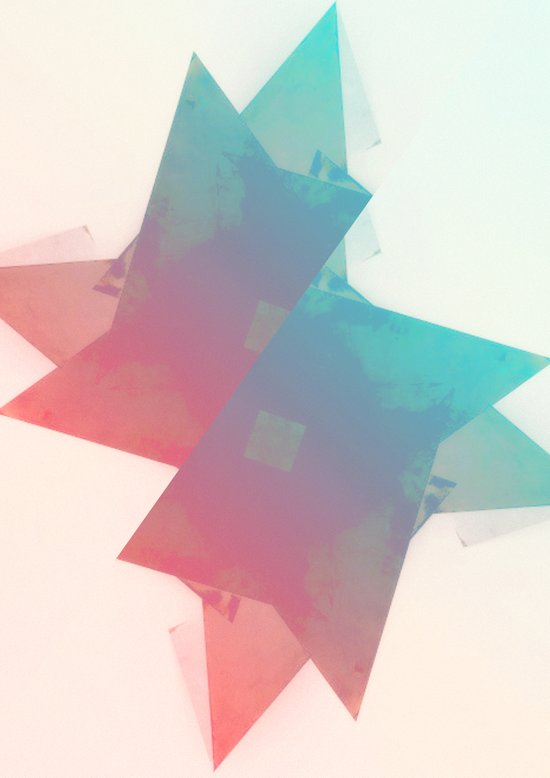 abstract star Art Print