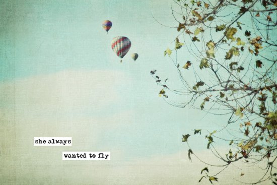 she always  wanted to fly Art Print
