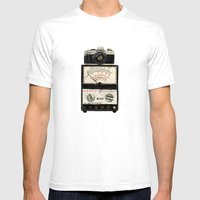 Analogue Stack Mens Fitted Tee White SMALL
