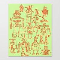 Robots! Canvas Print