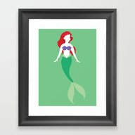 Ariel From The Little Me… Framed Art Print