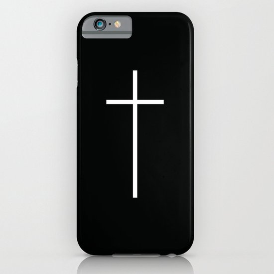 Christian Cross Black iPhone & iPod Case