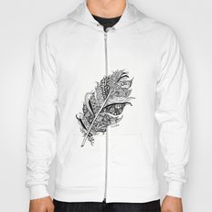 Feather Black and White 3 feathers Bird birds Zen Hoody