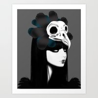dark bird (lady bird) Art Print