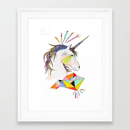 Unicorn Framed Art Print