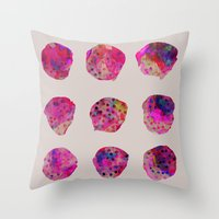 Throw Pillows featuring Variations by Georgiana Paraschiv