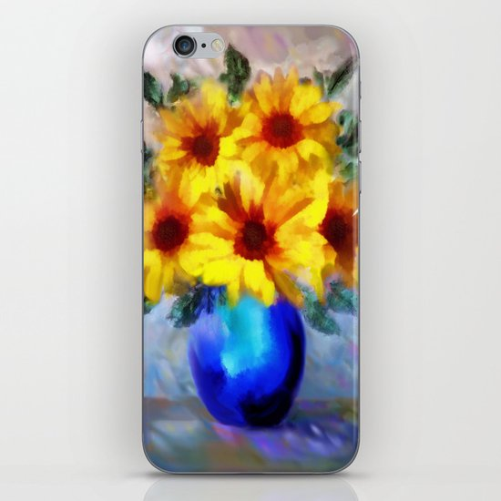 FLOWERS - A vase of Sunflowers iPhone & iPod Skin
