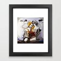 Letter 3: equally centered Framed Art Print
