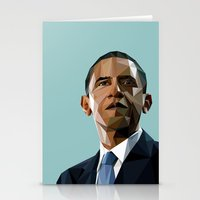 Geometric Obama Stationery Cards