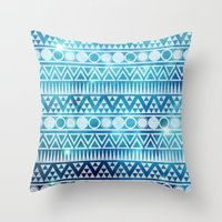 Tribal Ice Throw Pillow