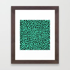 Neon Mint Leopard Framed Art Print
