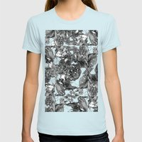 Handsy Womens Fitted Tee Light Blue SMALL