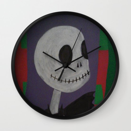 Jack skellington nightmare before christmas wall clock by