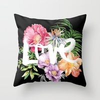 Love is Black Throw Pillow