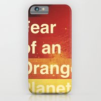 iPhone & iPod Case featuring Fear of an Orange Planet by Piccolo Takes All