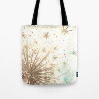 Queen Anne's Lace Retro Stars Tote Bag