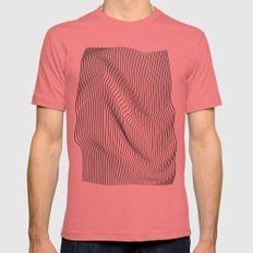 Minimal Curves Mens Fitted Tee Pomegranate SMALL