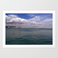 Across Dover Harbour  Art Print