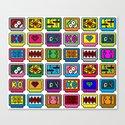 8-bit Game Cartridges Canvas Print