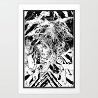 Devil glitch  Art Print