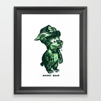 The Money Bear Framed Art Print