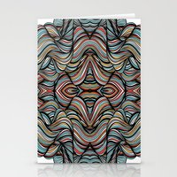 Abstract Waves of Thoughts Stationery Cards