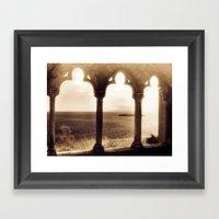 Sunset over Atlantic Framed Art Print