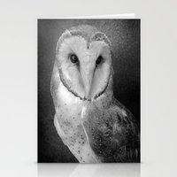 Wisdom Barn Owl  Stationery Cards